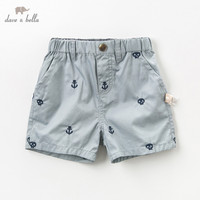 DB10745 dave bella summer baby fashion shorts infant toddler pants children boys casual clothes