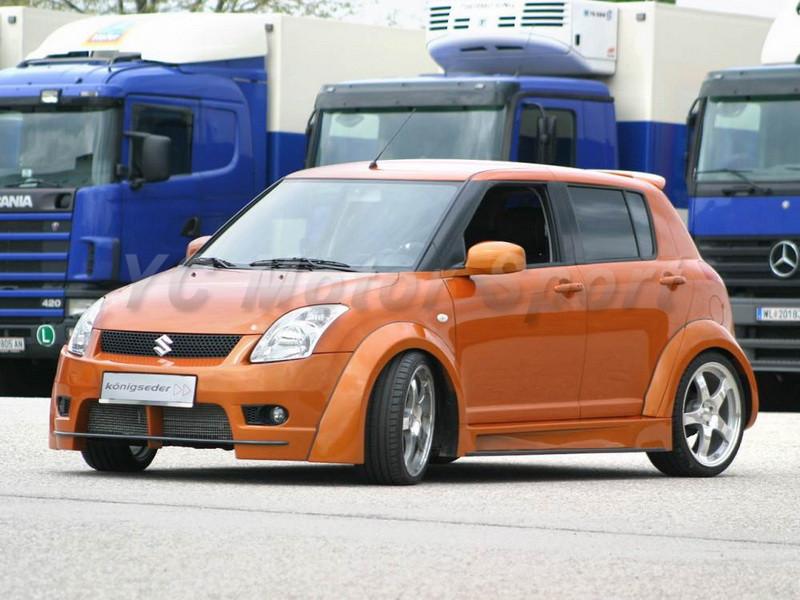 2004-2010 Suzuki SWIFT Königseder Style Wheel Flare Arch CF (1)