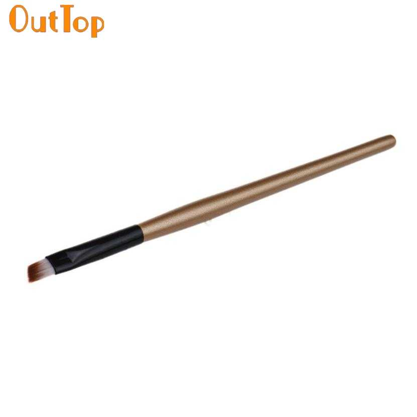 OutTop ColorWomen Hot New fashion design Eyebrow Cosmetic Makeup Brush Wooden Handle + Artificial Fiber Drop Shipping  je13