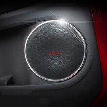 Подходит для Honda VEZEL вариабельности сердечного ритма HR-V 2014-2017 двери автомобиля аудио Динамик звук рога Обложка интерьер Кольцо Круг отделкой