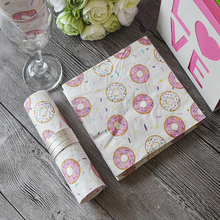 Omilut Donut Disposable Paper Sweet Party Decor Baby Shower Girl Cake Topper Grow Up Birthday Supplies