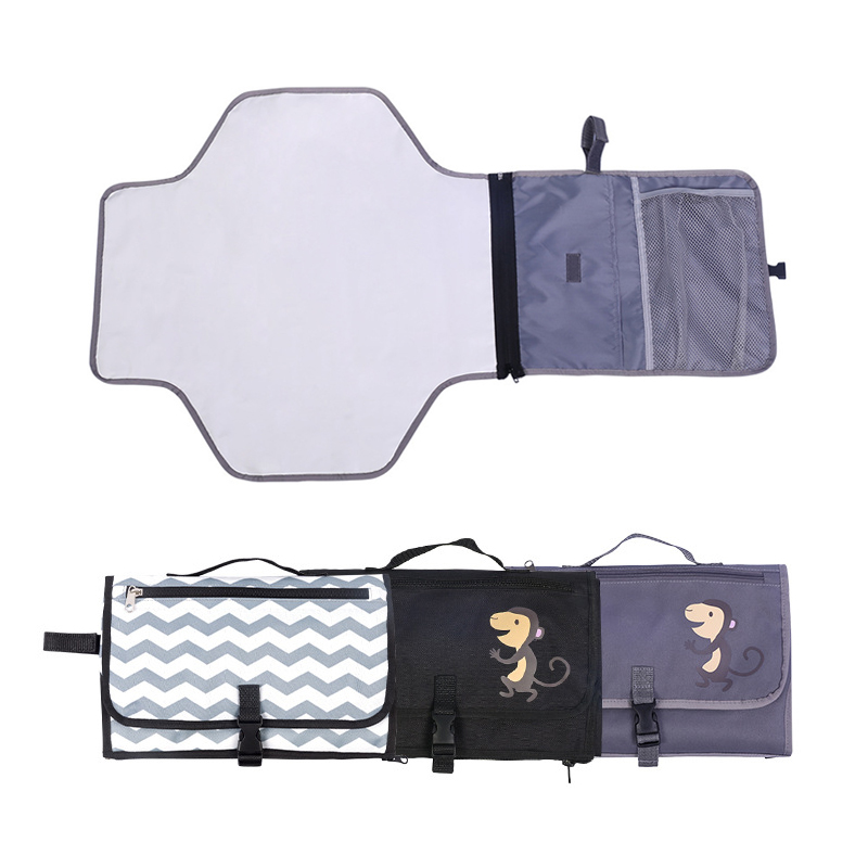 Baby Diaper Changing Mat Nappy Changing Pad Bag With Storage Pockets Waterproof Travel Changing Station Kit Diaper padBaby Diaper Changing Mat Nappy Changing Pad Bag With Storage Pockets Waterproof Travel Changing Station Kit Diaper pad