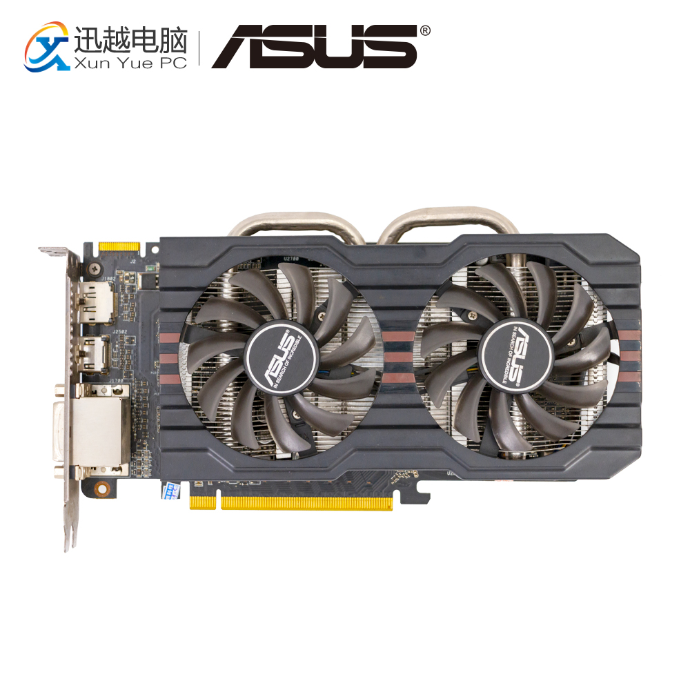 ASUS R9270-DC2OC-2GD5 Original Graphics Cards 256 Bit R9 270 2G GDDR5 Video Card HDMI DP 2*DVI For AMD Radeon new original for mgoy hd7450 1g 64bit ddr3 625 1066mhz for amd graphics card dvi hdmi vga
