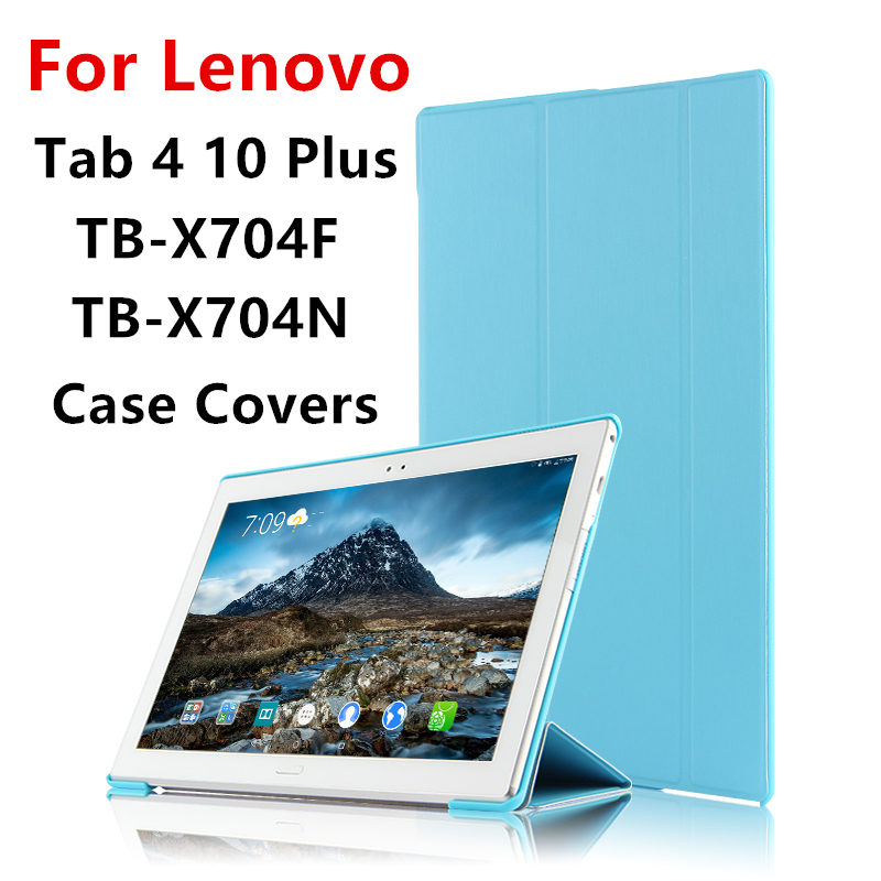 Case For Lenovo Tab 4 10 Plus Covers Tab410plus Protective Protector Smart Cover Leather PU TB-X704F TB-X704N Tablet Cases 10.1 huwei case sleeve for lenovo tab 4 10 plus smart cover protective leather tab4 10 tablet pc cases tab410plus pu protector covers