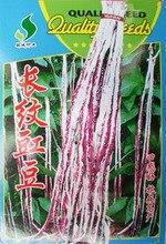 1 оригинальная упаковка редко растительные длинный Белый/красный узор вигны Семена, 15 г специальные красочные семена фасоли, фасоль длина 70-80 см