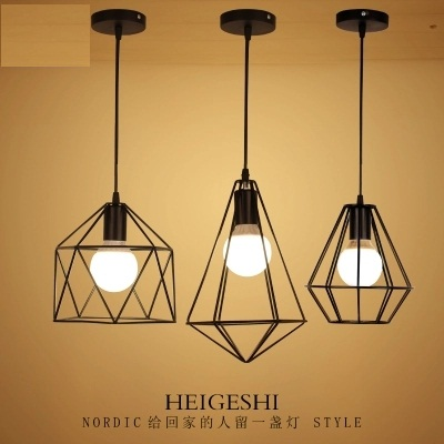 Retro Loft Style Iron Droplight Industrial Vintage Pendant Light Fixtures For Dining Room LED Hanging Lamp Lamparas