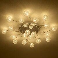 Современный алюминиевый желчный шар светодио дный светодиодный потолочный светильник креативная спальня гостиная круглый потолочный све