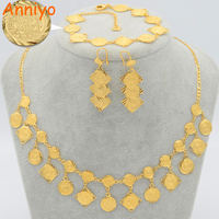 Luxury Coin Set Jewelry Necklace Bracelet Earrings 18k Gold Plated Jewelry Coins Arab African Brazilian Indian