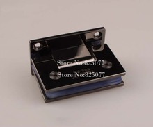 Free shipping High Quality Black titanium 90 Degrees open Stainless Steel 304 Wall Mount Glass Shower Door Hinge HM154