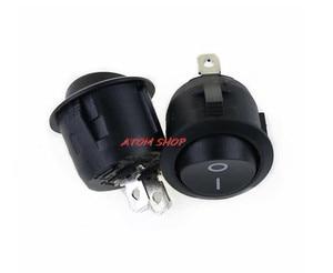 Image 3 - 2 контактный выключатель SPST для лодки, Круглый, черный, 5x1, 12 В, с защелкой + водонепроницаемым пальто YUANZUO