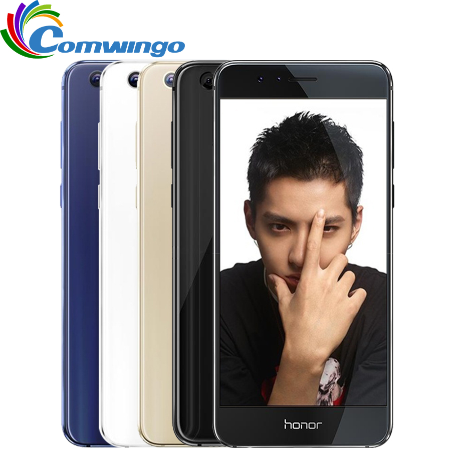Original Huawei Honor 8 Cellphone 4G RAM Fingerprint NFC Octa Core Dual 2.5D Glass 5.2in FHD Dual 12MP Smart Cellphone