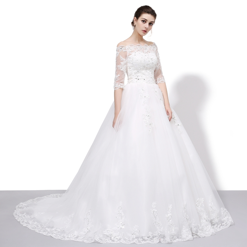 Vestido De Noiva Clearance Wedding Dresses The Bride Married Lace ...