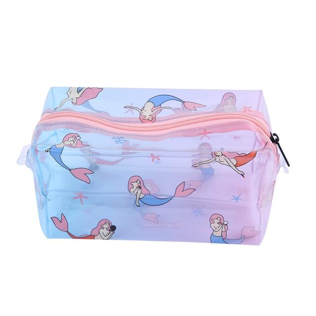 3184775dba84 US $4.09 14% OFF|Fashion Mermaid Transparent Waterproof Women Makeup Bag  Case Travel Storage Pouch Handbag Portable Girl Cosmetic Bag-in Cosmetic  Bags ...