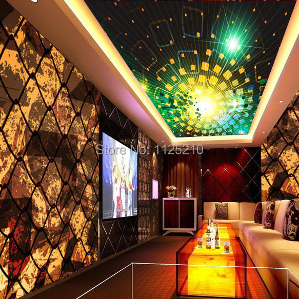 Free shipping Pvc KTV bar nightclub retro theme decoration materials  reflecting wall covering new listing grid Custom Size in Wallpapers from  Home. Free shipping Pvc KTV bar nightclub retro theme decoration