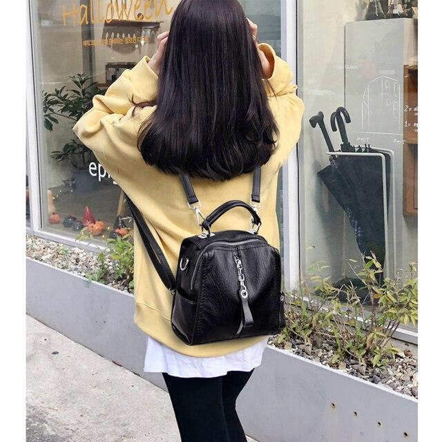 Glorria Luxury Cow Leather Handbags Women Bags Designer Fashion Shoulder Crossbody Bag for Women Multifunction Bag Big Tote Sac 5