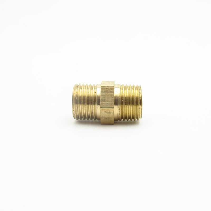 boquilla hexagonal Tubo montaje de latón 1//8 X 1//8 BSP MacHo BSP Rosca macho conector