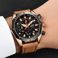 LIGE Men Watches Fashion Genuine Leather Sports Quartz Watch Men Watch 2018 Men's Top Brand Luxury Watch Relogio Masculino+Box