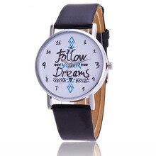 Siga Seus Sonhos Das Mulheres Relógios de Quartzo Reloj Mujer Relogio feminino Pulseira de Couro relógio de Pulso Novo Relógio Vestido Relógio