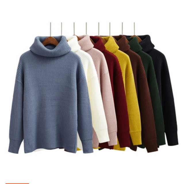 Autumn Women Sweaters and Pullovers Harajuku Kawaii clothes winter korean  pullover trend turtlene knitted sweater women c0ffd5d59