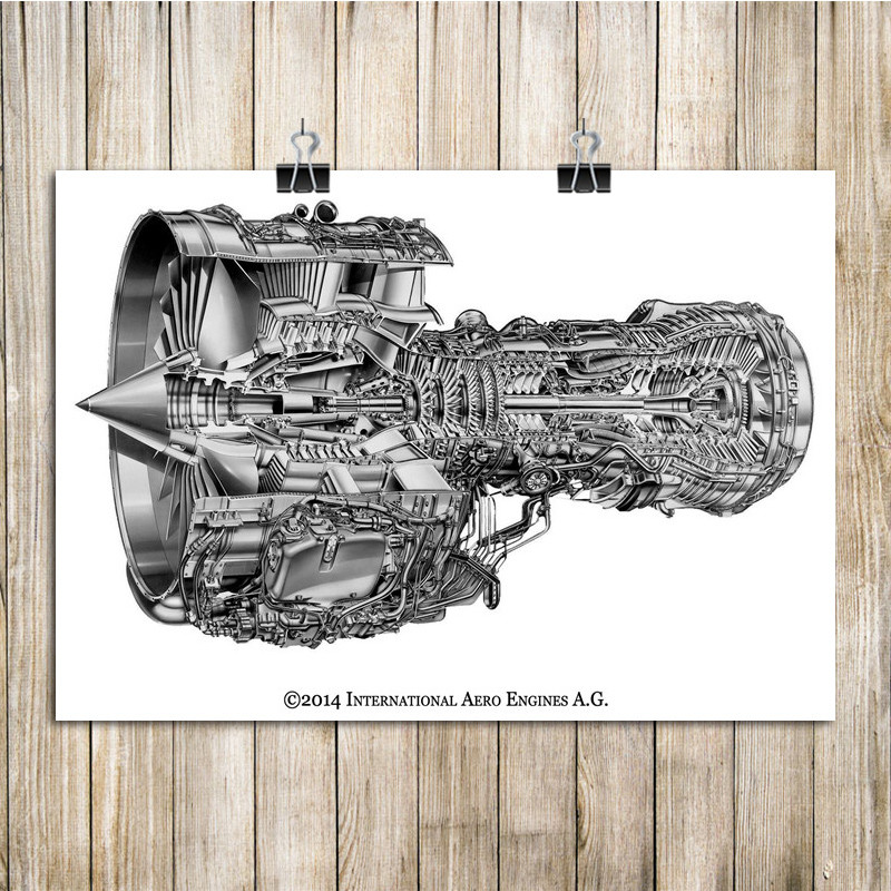 Vintage Poster Aircraft Engine Structure Diagram House Decoration Wall  Sticker Art Painting for Living Room Cafe Bar Pub 42x30cm|wall  sticker|decorative wall stickersvintage poster - AliExpressAliExpress