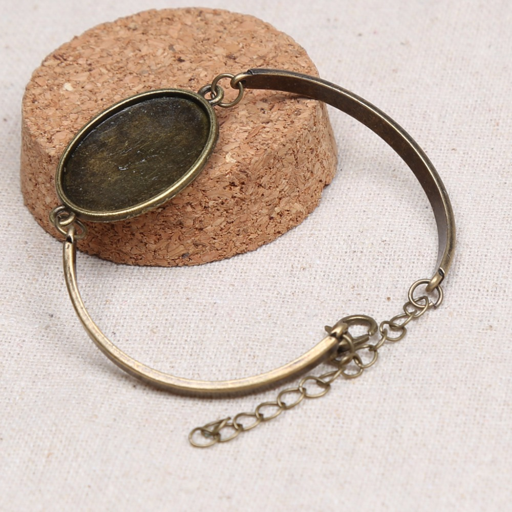 bracelets diy bangles in item brass bracelet round making settings for glass base bezel blank pad jewelry square cabochon bangle adjustable cuff blanks from