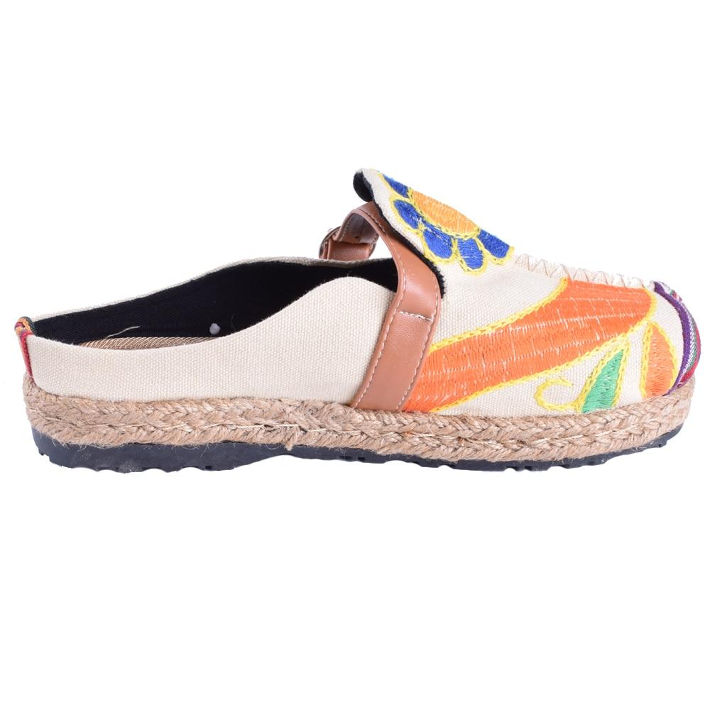 Mujeres de la vendimia Zapatillas de Lino Ocasional de Algodón - Zapatos de mujer - foto 5