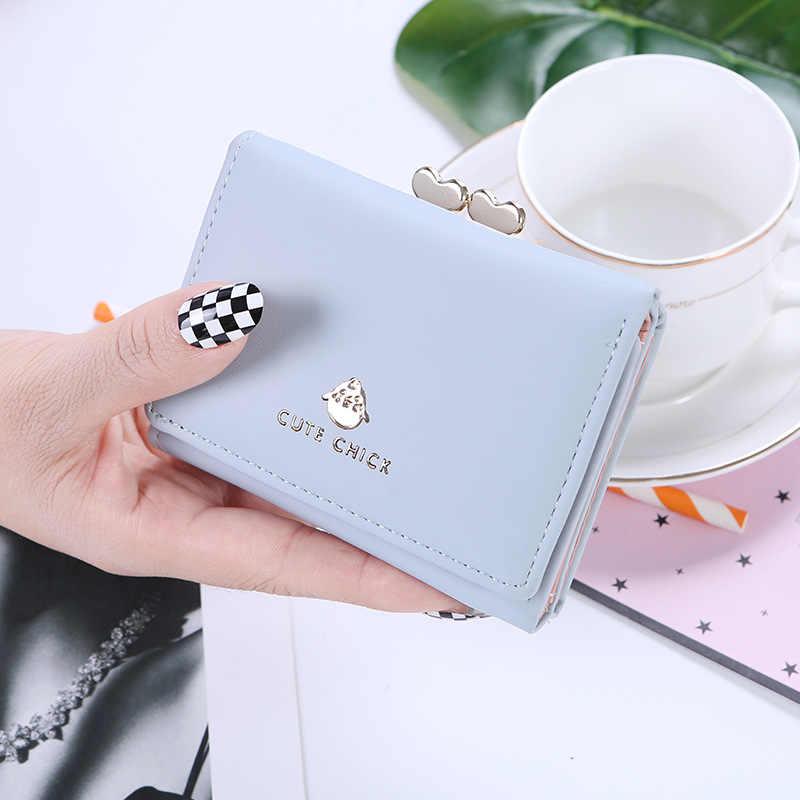 Женский простой короткий кошелек UR Burse, многофункциональный кошелек для девочек, держатель для карт, Женский кошелек с несколькими картами и пряжкой, милый кошелек для монет