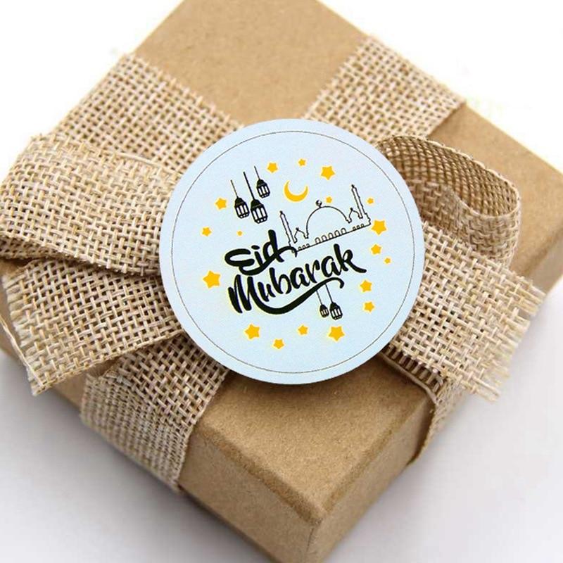 Eid Al Adha Eid Mubarak Decor kraft Paper Sticker label sticker handmade Islamic Muslim Mubarak Decoration Ramadan Decoration