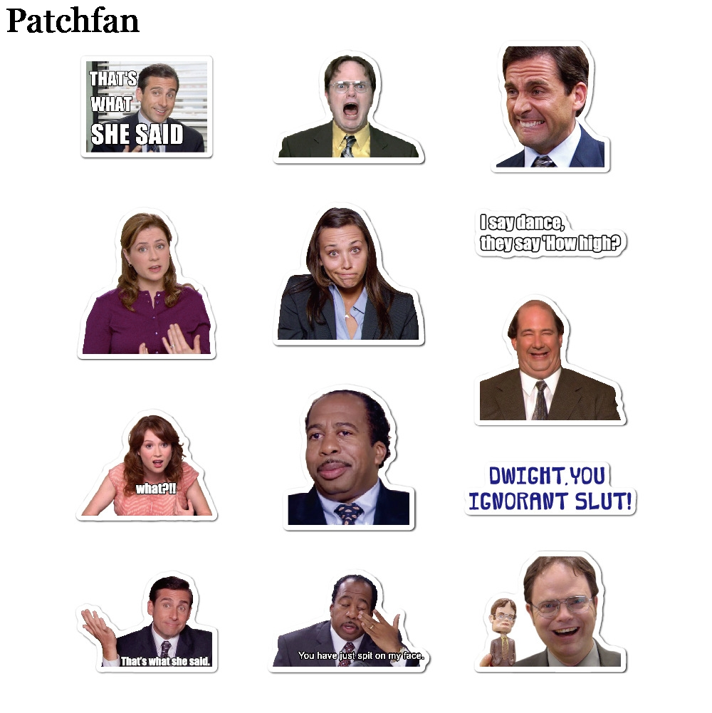 Patchfan 50pcs The office tv show kids stickers DIY scrapbooking Laptop Skateboard Motorcycle Decoration badges Pasters A2062 in Stickers from Home Garden