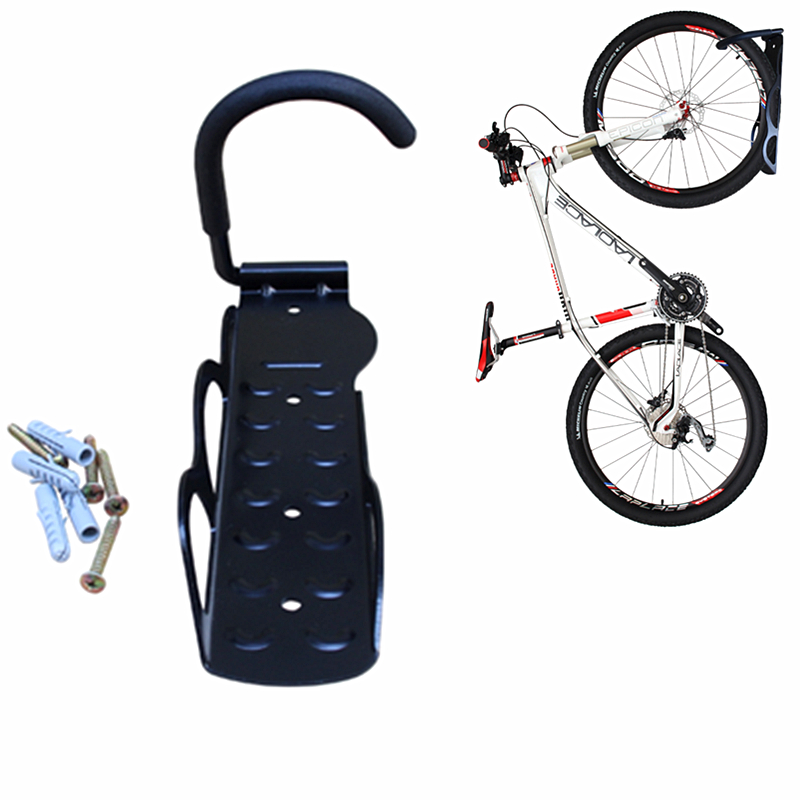 wholesaler price mountain bike wall hook black bicycle. Black Bedroom Furniture Sets. Home Design Ideas