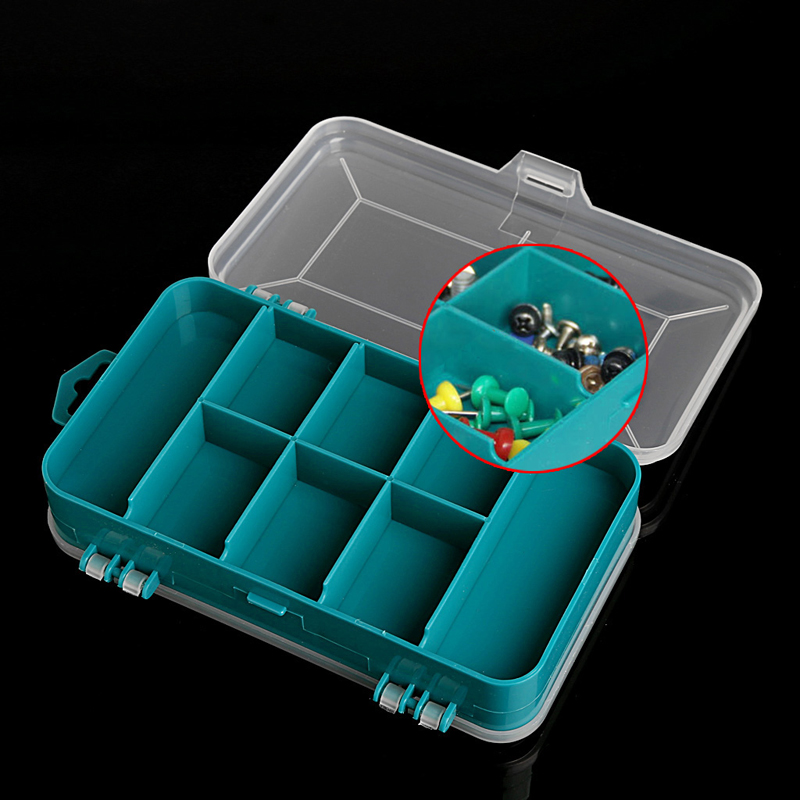 OOTDTY 1PC Tool Box Transparent Double-Side Multifunctional Storage Tool Organizing Case Plastic Case