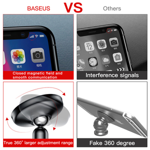 Image 2 - Baseus Universal Auto Halter Für Handy Halter Stehen in Car Mount Handy Halter Für Auto 360 Grad Magnetische Auto telefon Halter