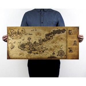 Image 2 - Autocollants muraux avec carte du monde, artisanat rétro, en bateau, 72x33 cm, décoration antique de Bar, peinture