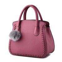 Elegant High Quality Embossing PU Office Lady Handbag Clutch Dark Pink Women's Shoulder Bag