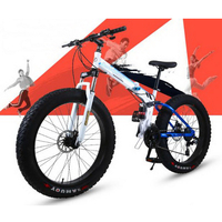 240601 Folding Snowmobile 4 0 Super Wide Tires Mountain Bike Men And Women Cycling Adult Variable