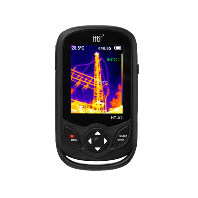 Инфракрасный термометр профессиональный ручной HD Инфракрасный Тепловизор портативный инфракрасный термометр ИК тепловизор инфракрасный - Цвет: Черный