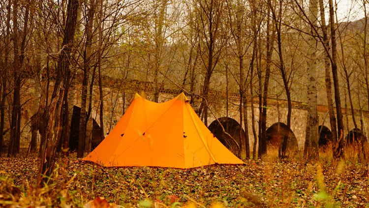 618910 580 1 580G Camping Tent Ultralight 1-2Person Outdoor 20D Nylon Both Sides Silicon Coating Rodless A tower Large Tent Camping 4 Season