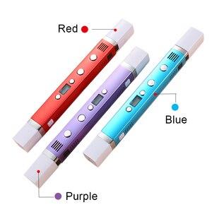 Image 3 - Myriwell 1.75 millimetri ABS/PLA FAI DA TE 3D Penna Schermo A LED, USB di Ricarica 3D Penna di Stampa + 100M Filamento Creativo del Regalo Del Giocattolo Per I Bambini di Disegno