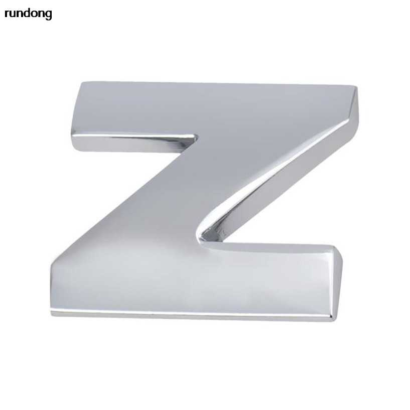 (N--Z) 1pc 3D DIY Metallic Sticker Auto Emblem Badge Decal