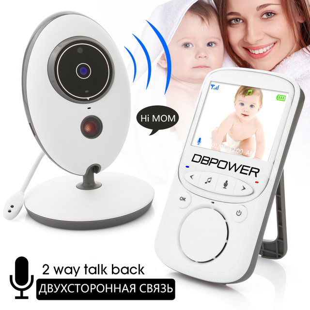 2.4'' LCD 2.4GHz Wirles Video Baby Monitor Security Baby Camera 2 Way Talk NightVision IR LED Zoom Crying Temperature Monitor
