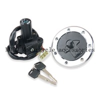 Free shipping Ignition Key Switch Lock with Fuel Gas Cap Set For ZX 6R ZX 7R ZX 9R ZXR400 ZXR750 ZZR400 ZZR600