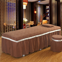 Polyester/Cotton Jacquard Beauty Salon Bedspread 1pcs Massage Parlour Spa Fumigation Bedding Kit Fitted Bed
