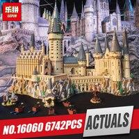 Lepin 16060 Harry Movie Potter Series The Legoinglys 71043 Hogwarts Castle Set Building Blocks Bricks House Model Christmas Toys