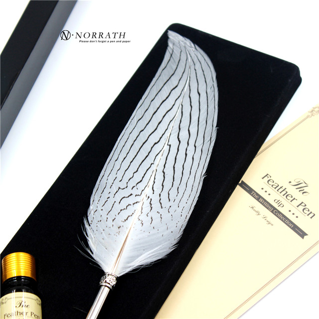 Harry Potter Vintage Feather Fountain Pen Luxury Gift Box Quill Ink Pen  Signature Pen Child's Gifts Stationery Set-in Fountain Pens from Office &  School ...