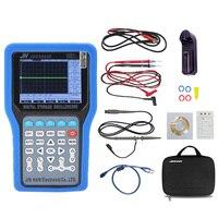 Jds3022e handheld 2ch osciloscópio de armazenamento digital kit 50 mhz 500msa/s/20 m gerador de sinal/porta serial/gravador ferramentas