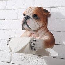 Ванная комната Аппаратных ручной бык собака форма творческий висит ванная комната приспособление туалетной бумаги держатели рулона висит holde