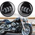 2x4.5 ''pulgadas LED Luz de Niebla de La Motocicleta Faro Auxiliar Proyector de La Lámpara Spot Conducción Impermeable Para Harley Davidson Daymaker