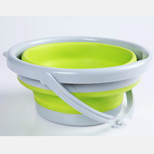 5L Silicone Folding Bucket,Clean Storage Barrels,Save Space Bucket Collapsible Portable ffor Outdoor Camping Fishing Supplies