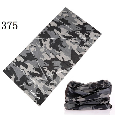 361-380 Bicycle Anti-UV Bandana Seamless Hijab Bandana Headwear Mask Camo Magic Scarf Headband  Neck Tube Face Mask Wrap