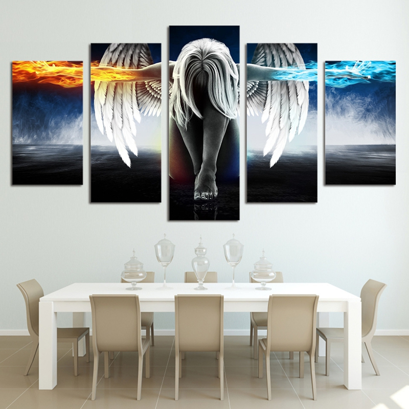 Leinwand Malerei HD Gedruckte Wandkunst Moderne Anime Bilder 5 stück ...